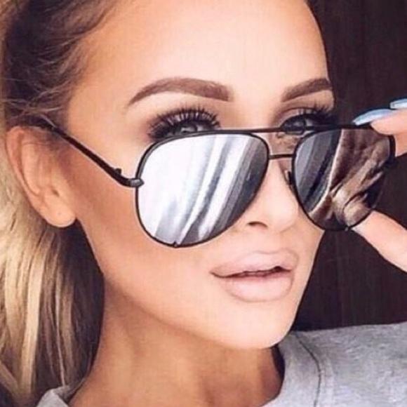 aeee6432959 Quay x Desi high key black silver mirrored aviator.  M 5ac5ba999cc7efe2d265b967. Other Accessories you may like. BNWT Aviator  Sunglasses ...